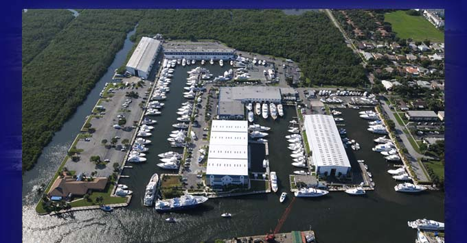 Helicopter photo of Harbour Towne Marina